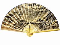 Набережная веер настенный бамбуковый