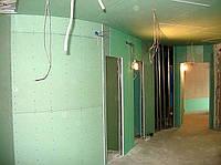 Обшивка стен и потолка влагостойким гипсокартоном