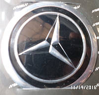 Наклейка эмблема МЕРСЕДЕС на колесный диск / колпак d 60 мм