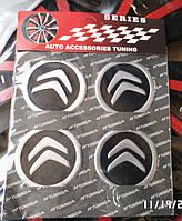 Наклейка эмблема СИТРОЕН на колесный диск / колпак d 60 мм