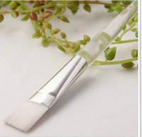 Кисть косметологическая ручка пластик прозрачный  17см.