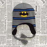 Шапка вязаная с флисом для мальчика Бетмен