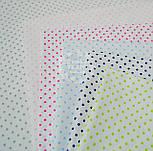 Ткань с серым горошком 3 мм на белом фоне (№491а)., фото 3