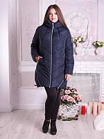 Модная зимняя куртка (полупальто) больших размеров (рр 50-60), разные цвета