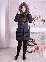 Модная зимняя куртка (полупальто) 2017 больших размеров (рр 50-60), разные цвета
