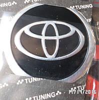 Наклейка эмблема ТОУОТА  на колесный диск / колпак d 60 мм