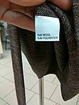 Платье терлое из твида с поясом и драпировкой для офиса пл 149-2, фото 4