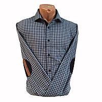 Рубашка мужская длинный рукав, теплая, байковая,фланелевая