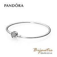 Pandora браслет жесткий СНЕЖИНКА #590740CZ серебро 925 Пандора оригинал