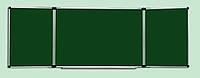 Доска для мела ABC Office (300x100), в алюм.рамке, трехсекционная