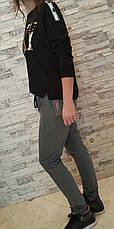 Молодежный черный и серый костюм на девушек ARMY BLEK, фото 2