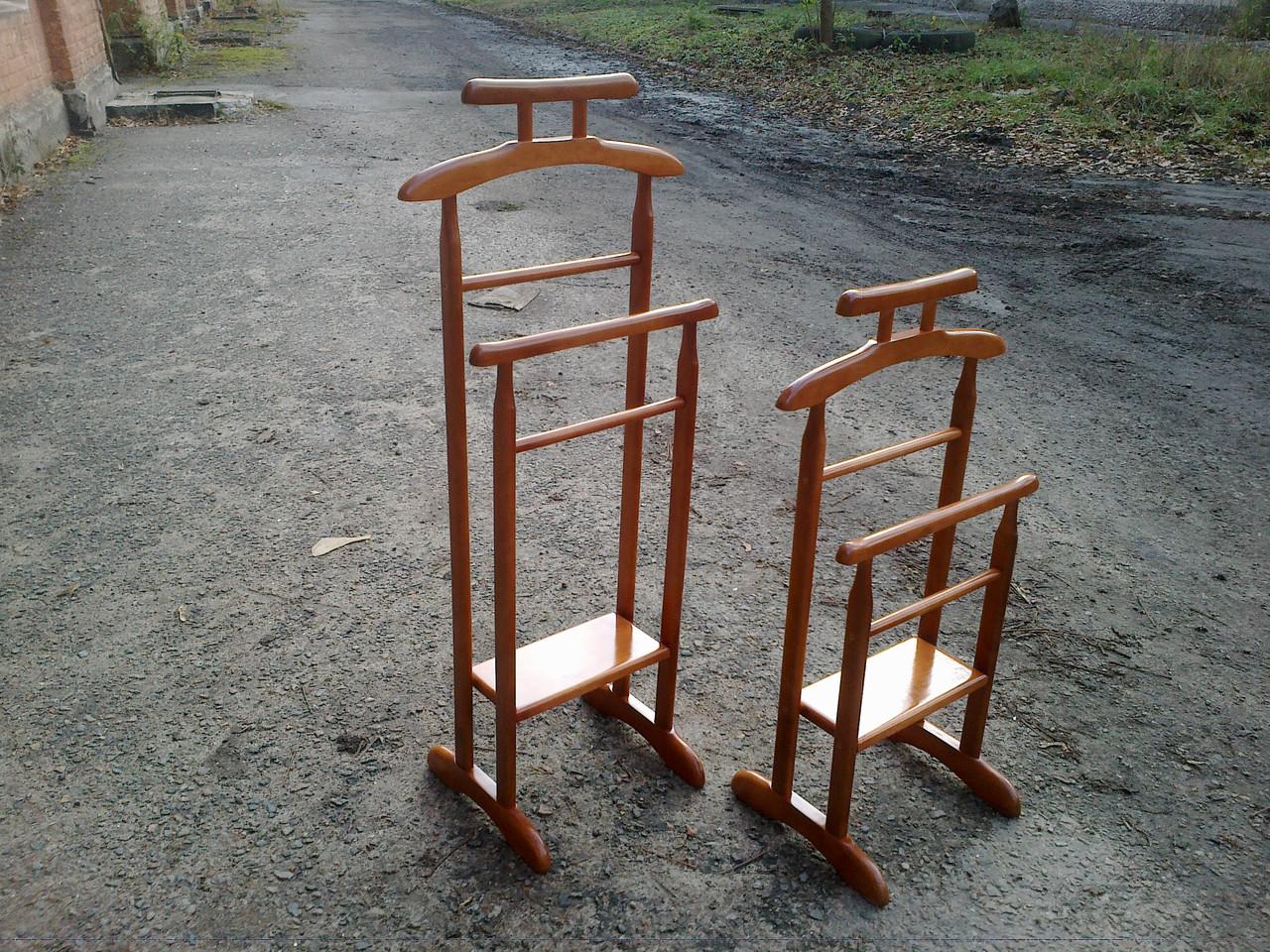 """Вешалка напольная """"Альфа"""" деревянная стойка для одежды"""