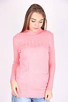 Молодежная кофта нежно-розового цвета