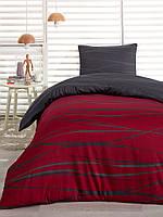 Сатиновое постельное белье Eponj Home Classic Verdi бордо полуторного размера
