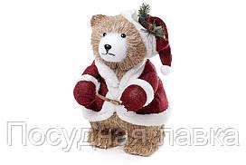 Новогодняя фигура Медведь в наряде Санты