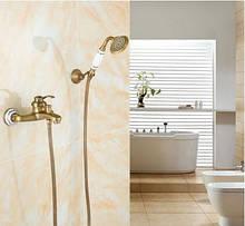 Змішувач кран бронза у ванну кімнату з лійкою