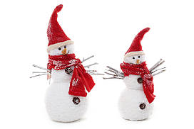 Новогодняя декоративная фигура Снеговик