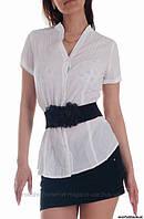 Блуза белая, с короткими рукавами, сток Terranova