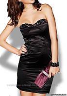 Короткое черное платье с каменьями, Китай