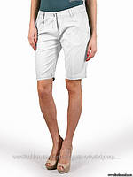 Удлиненные шорты белые, котоновые, сток Silvian Heach