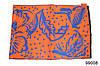 Кашемировый палантин Жар-птица оранжево-синий