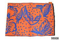 Кашемировый палантин Жар-птица оранжево-синий, фото 1
