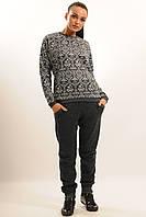 Повседневный комфортный костюм из Ангоры с брюками-джоггерами, 42-52 размеры