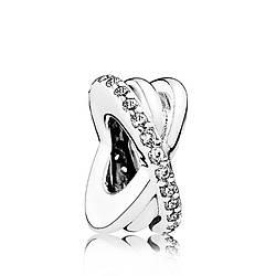 Разделитель «Галактика» из серебра  в стиле Pandora