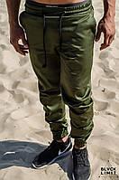Мужские штаны карго джоггеры DESERT VIBES чиносы на молнии Хаки коттоновые зауженные (брюки-карго, Cargo)