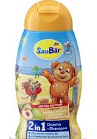 Шампунь + гель SauBаr 2in1 ароматом белого персика и сладкой груши 250 ml.