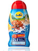 Шампунь - гель SauBаr 2in1 Клубника 250 ml.