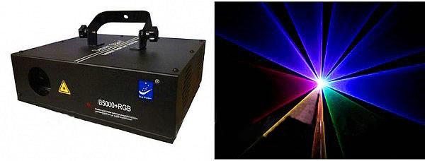 Анимационный  лазерный проектор   B5000+RGB    .f