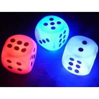 Светильник ночник  с цветной подсветкой Игральные кости