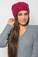 Теплая вязанная шапка с добавлением шерсти (разные цвета)
