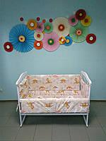 Детское постельное белье 4 в 1, (резинка)