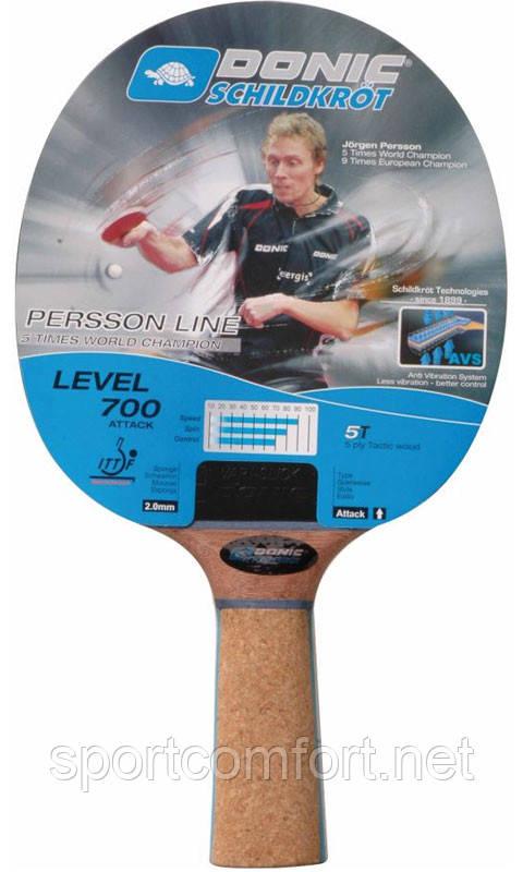 Ракетка для настольного тенниса Donic Persson 700 с пробковой накладкой на ручке - Доступный спорт в Харькове