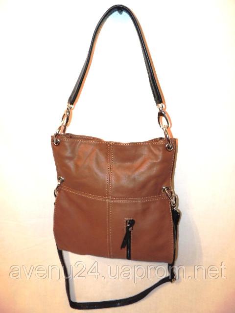 Кожаная женская сумка через плечо (Италия), фото 1