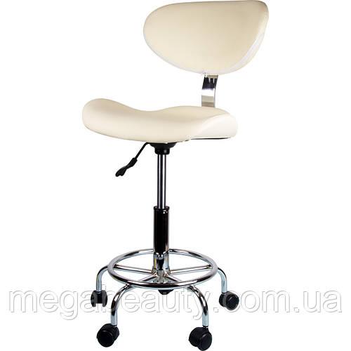 Стул мастера ZD-2106 для медработника, для косметолога, для маникюра, для клиента, кремовый