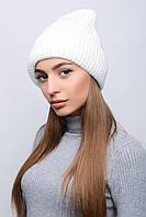 Вязаная шапка с отворотом (в расцветках)