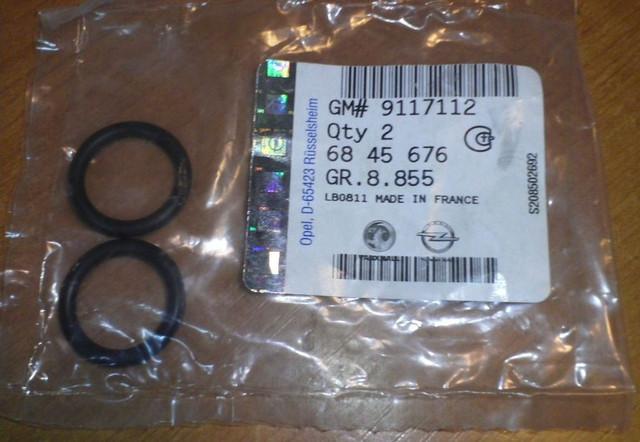 Уплотнительное кольцо (резинка) трубок радиатора отопителя (печки) type-Delphi GM 6845676 9117112 OPEL Astra-G Astra-H Zafira-A используется только с