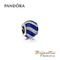 Шарм Pandora СИНИЙ ПРАЗДНИЧНЫЙ ШАРМ #791991EN118 серебро 925 Пандора оригинал