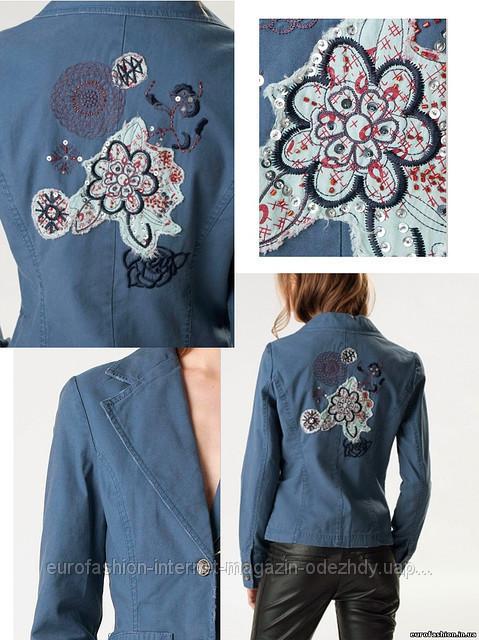 Пиджаки с вышивкой на спине