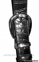 Ремень женский под джинсы, классический кожаный, черный