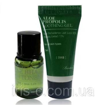 Крем - гель и тоник для чувствительной кожи в мини-наборе BENTON Aloe Bha Skin
