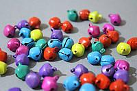 Бубенчики новогодние разноцветные микс 50 шт/уп. 1 х 1 см