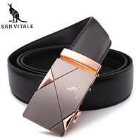 Мужской кожаный ремень из натуральной кожи San Vitale с автоматической пряжкой