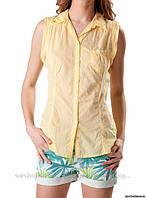 Рубашка без рукавов, желтая, сток Bershka