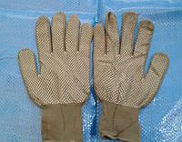 Рабочие перчатки нейлоновые тонкие серые с точками