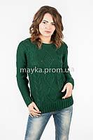 Модный Свитер объемная вязка р.46-48 цвет зеленый N14-8