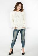 Модный Свитер объемная вязка р.46-48 цвет молочный N14-5